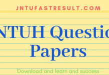 jntuh previous question papers