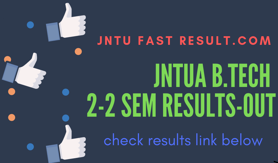 JNTUA B.tech 2-2 semester  results