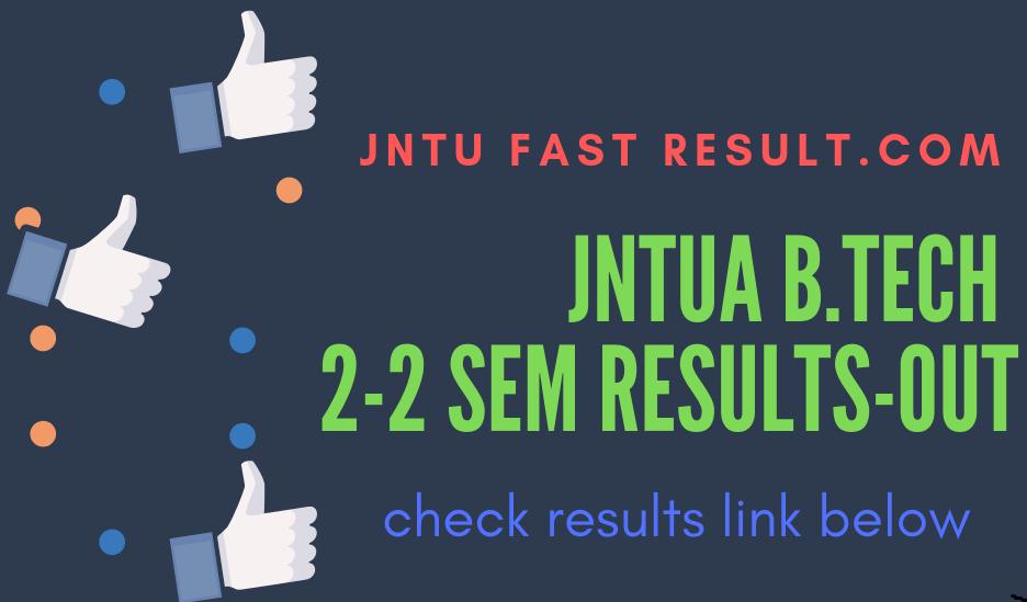 JNTUA B.tech 2-2 semester results
