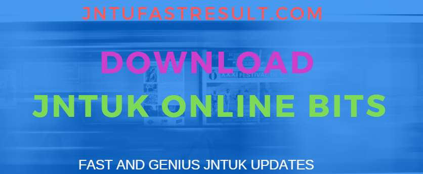 JNTUK B.Tech 4-2 1st Mid Online Bits 2019