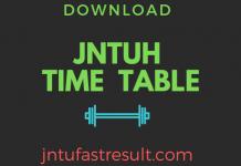 jntuh exams timetable