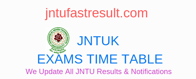 JNTUK B.Pharmacy 1-2 Sem Supply Exam Time Tables