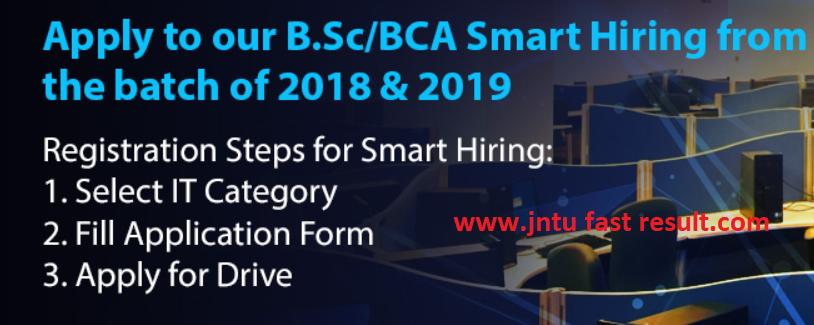 TCS B Sc/BCA Recruitment notification - 2018 & 2019 YOP