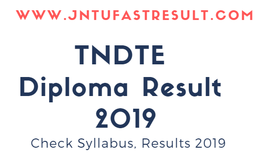 TNDTE Diploma Result 2018 - Released 1st 3rd 5th Sem