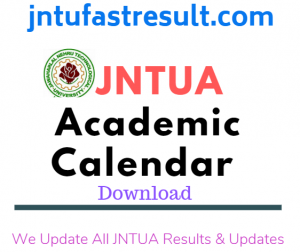 Jntua Academic Calenders 2019