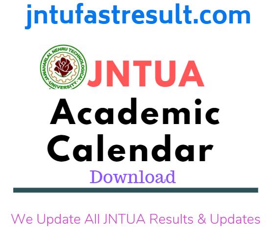 JNTUA Academic Calender
