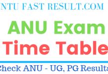 ANU Exam Timetables 2019