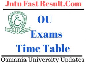 OU Timetable 2019