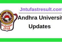 Andhra University Updates