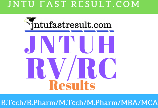 JNTUH Rc/Rv Results 2019