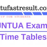 JNTUA Exams Time Table 2019