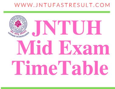 JNTUH B.Tech Mid Exam Date