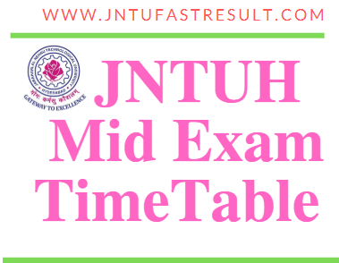 JNTUH B.Tech II-Mid Exam Time Table Oct 2019