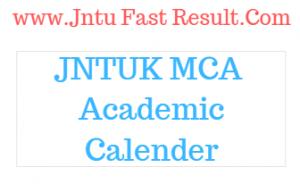 jntuk mca academic calender