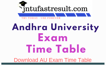 Au Degree 1st Sem Exam Time Table July 2021 Released