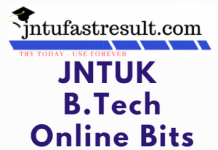 JNTUK B Tech 2-1 Sem(R16) 1st Mid Online Bits August 2019