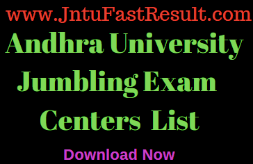 AU Degree Jumbling Exam Centres List 2019