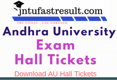 AU Degree  Exam Hall Tickets 2019