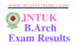 JNTUK B.Arch Exam Results
