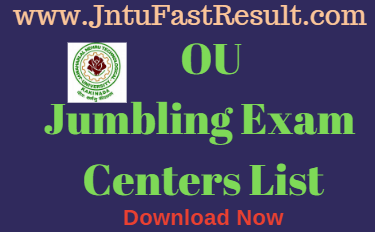 OU Degree Jumbling Centres List 2019