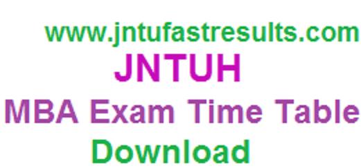 JNTUH-MBA-Exam-Time-Table