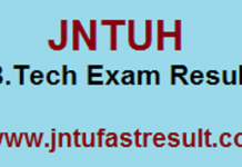 jntuh B.Tech Exam Resuults