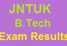 JNTUK b.tech Exam results