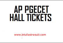 AP-PGECET-Hall Tickets