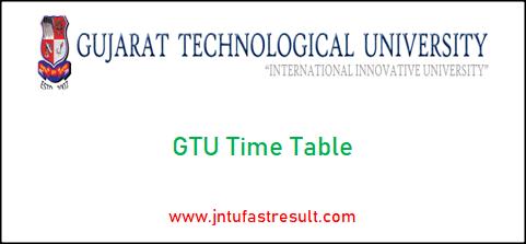 gtu-time-table