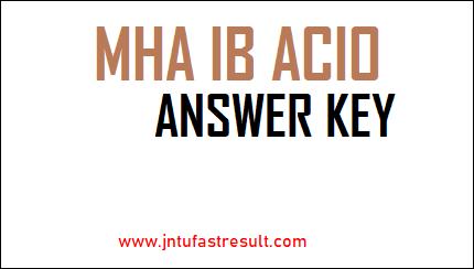 MHA-IB-ACIO-Answer-Key