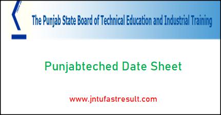 punjabteched-date-sheet