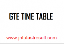 GTE-TIME-TABLE