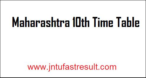 Maharashtra-10th-Time-Table